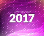 Free Vector Happy New Year 2017 Colorful Background