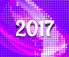 Free Vector Happy New Year 2017 Colorful Halftone Background