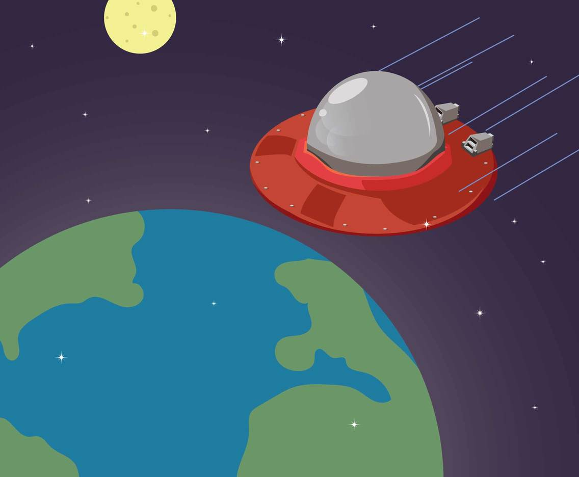 Free UFO illustration