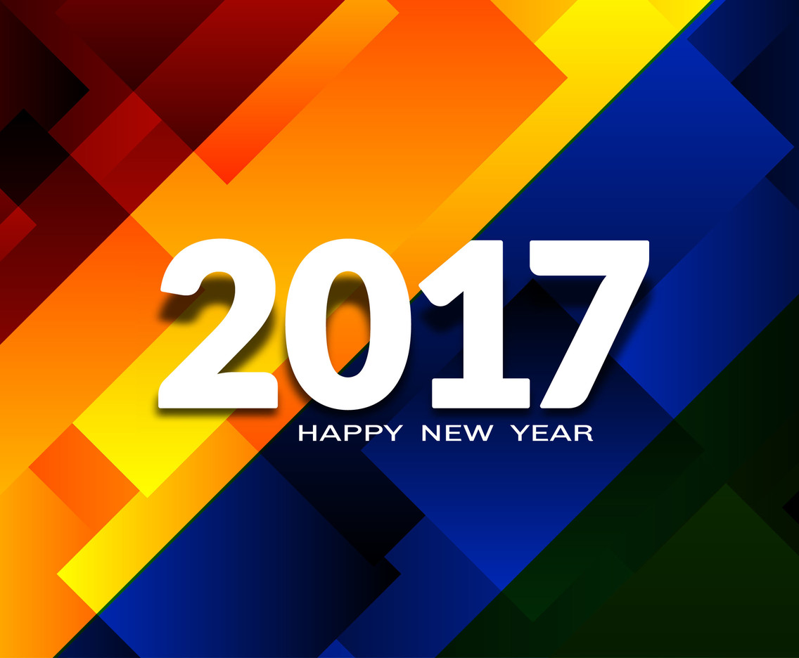 Free Vector New Year 2017 Background Design
