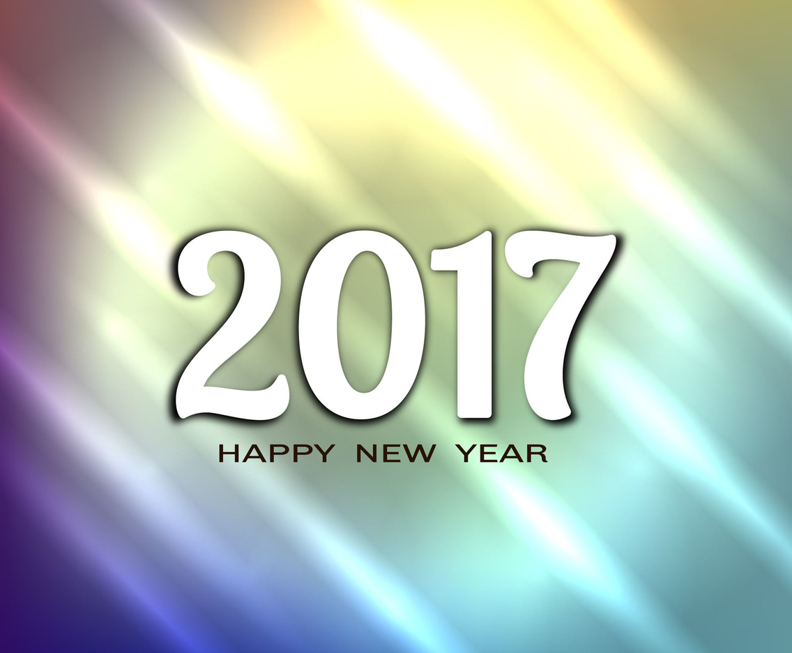 Free Vector Bright New Year 2017 Background