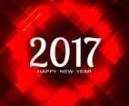 Free Vector New Year 2017 Red Background