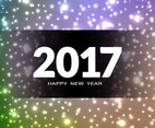Free Vector New Year 2017 Glittering Background