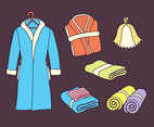 Bathrobe And Towel Vector