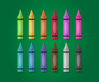 Crayon Vector Set