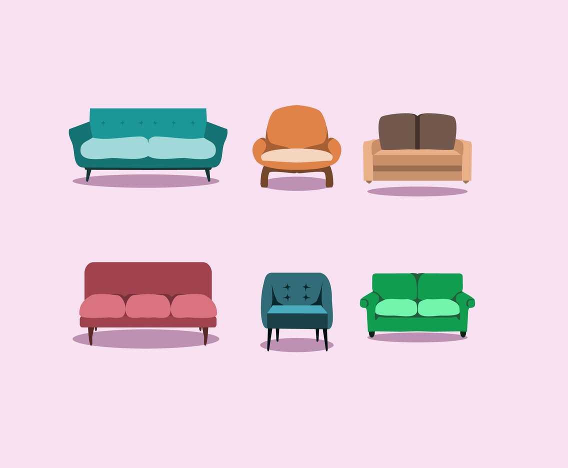 Cozy Couch Vector