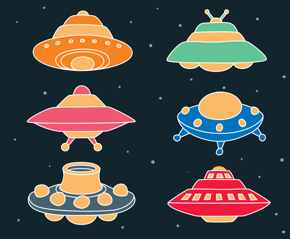 Ufo Collection vector Set
