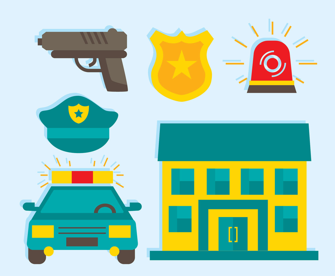 Police Element Vector Set