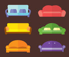 Colorful Couch Collection Vector