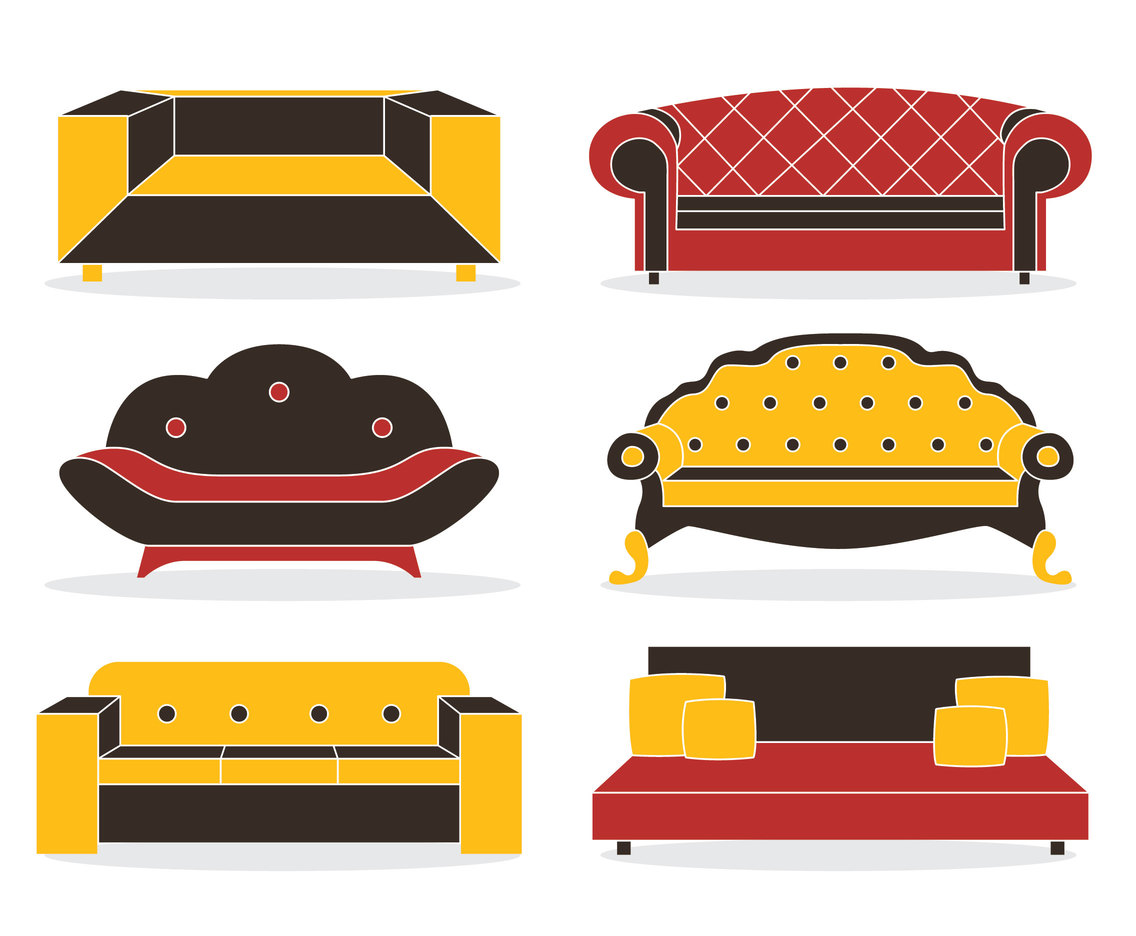 Collection Couch Vector