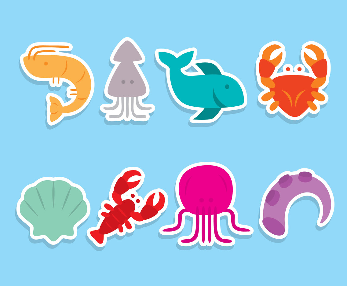 Nice Seafood Collection Vector
