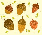 Acorn Collection Vector Set