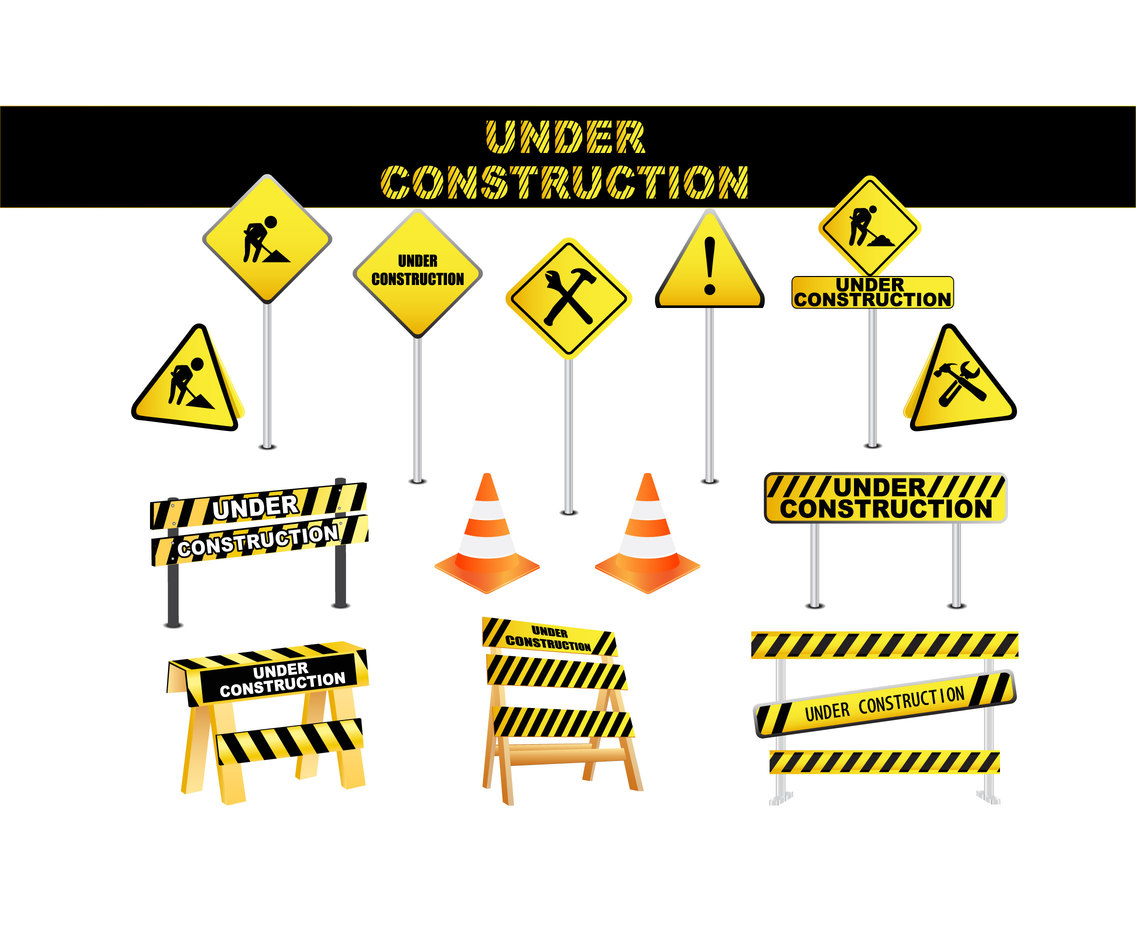 Under construction signs element