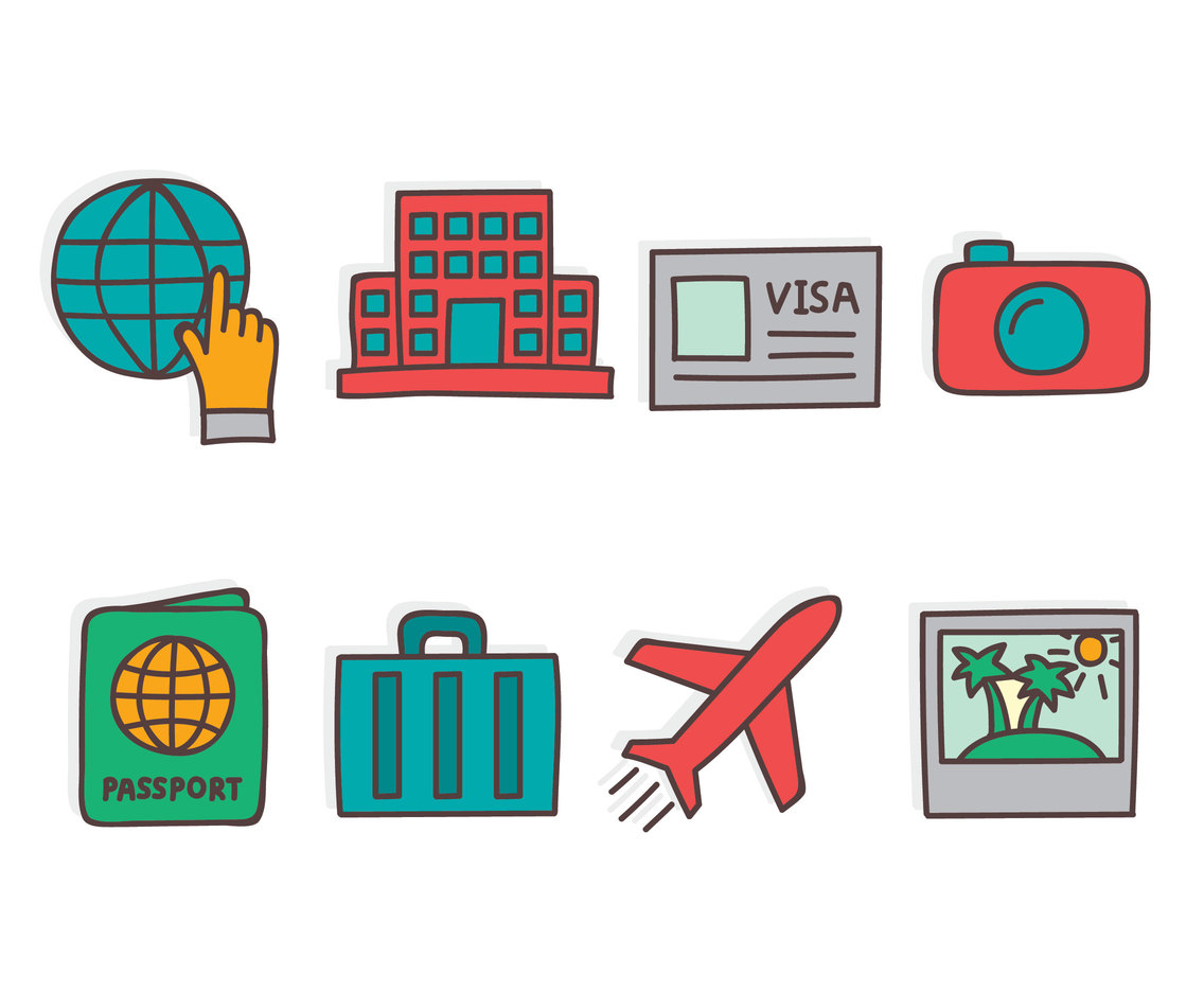 Hand Drawn Traveling Element Vector