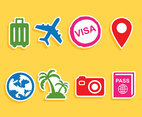 Traveling Element Icons Vector