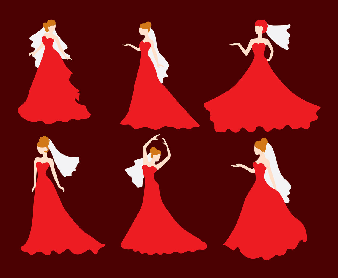 Woman Bride Dress Vector