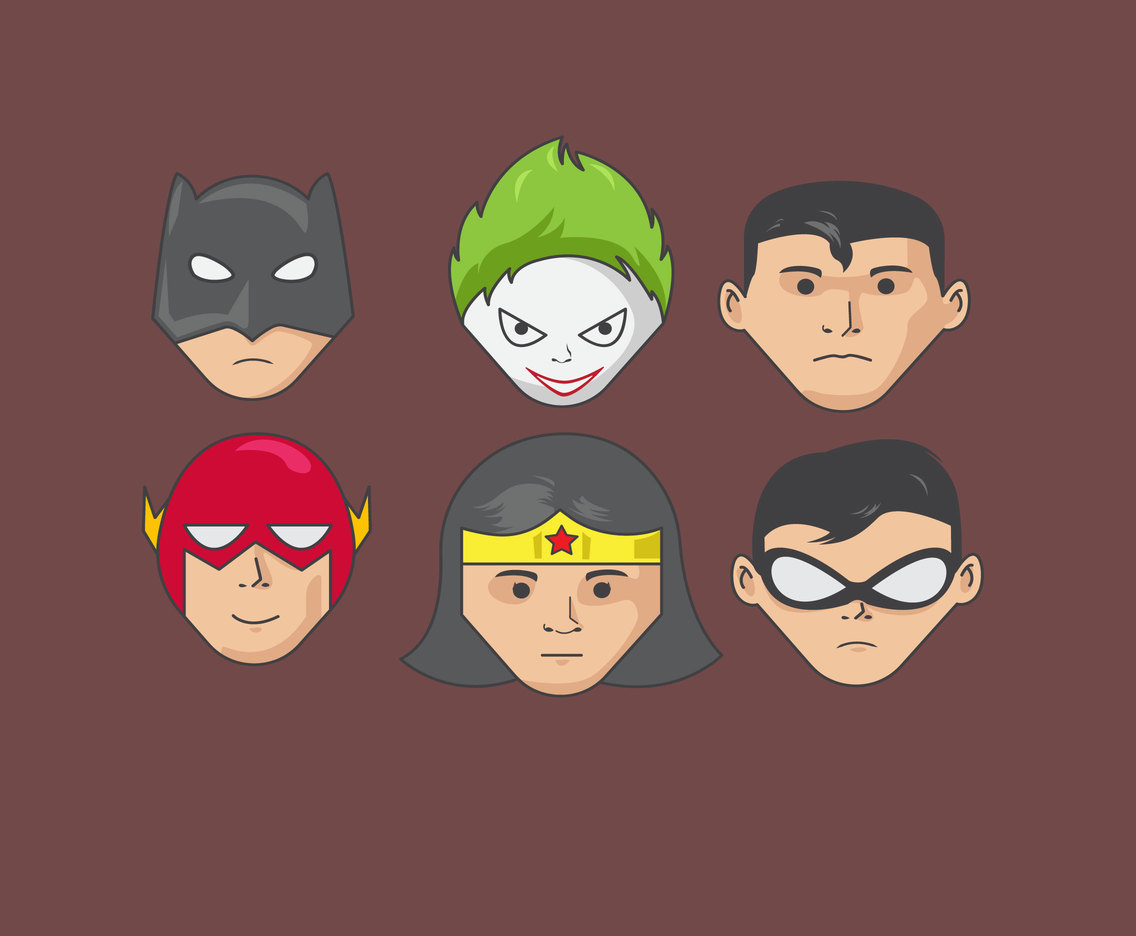 Super Hero and Villain Characters Vector
