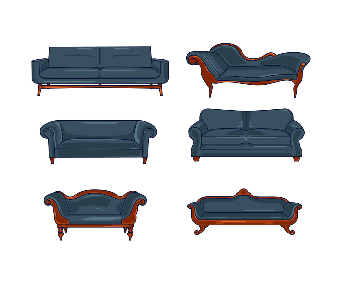 Retro Couch Vector