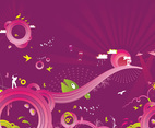 Crazy Purple Background Vector Graphics