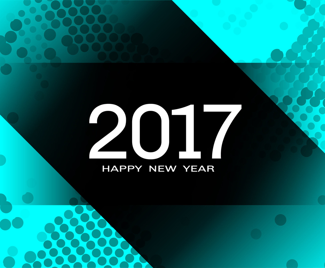 Free Vector Happy New Year 2017 Halftone Background