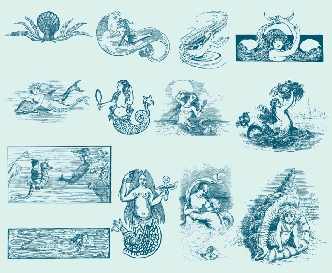 Vintage Mermaid Illustrations