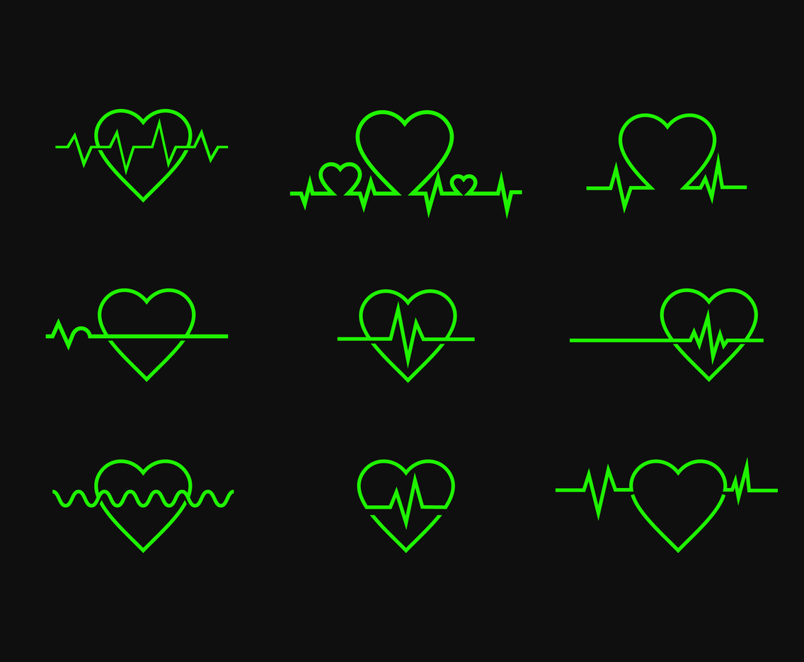 Free Heartbeat Vector