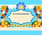 Cartoon Flat Flowers vector background