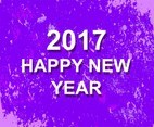 Free Vector New Year 2017 Modern Background