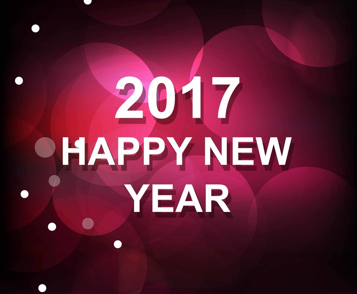 Free Vector New Year 2017 Shiny Background