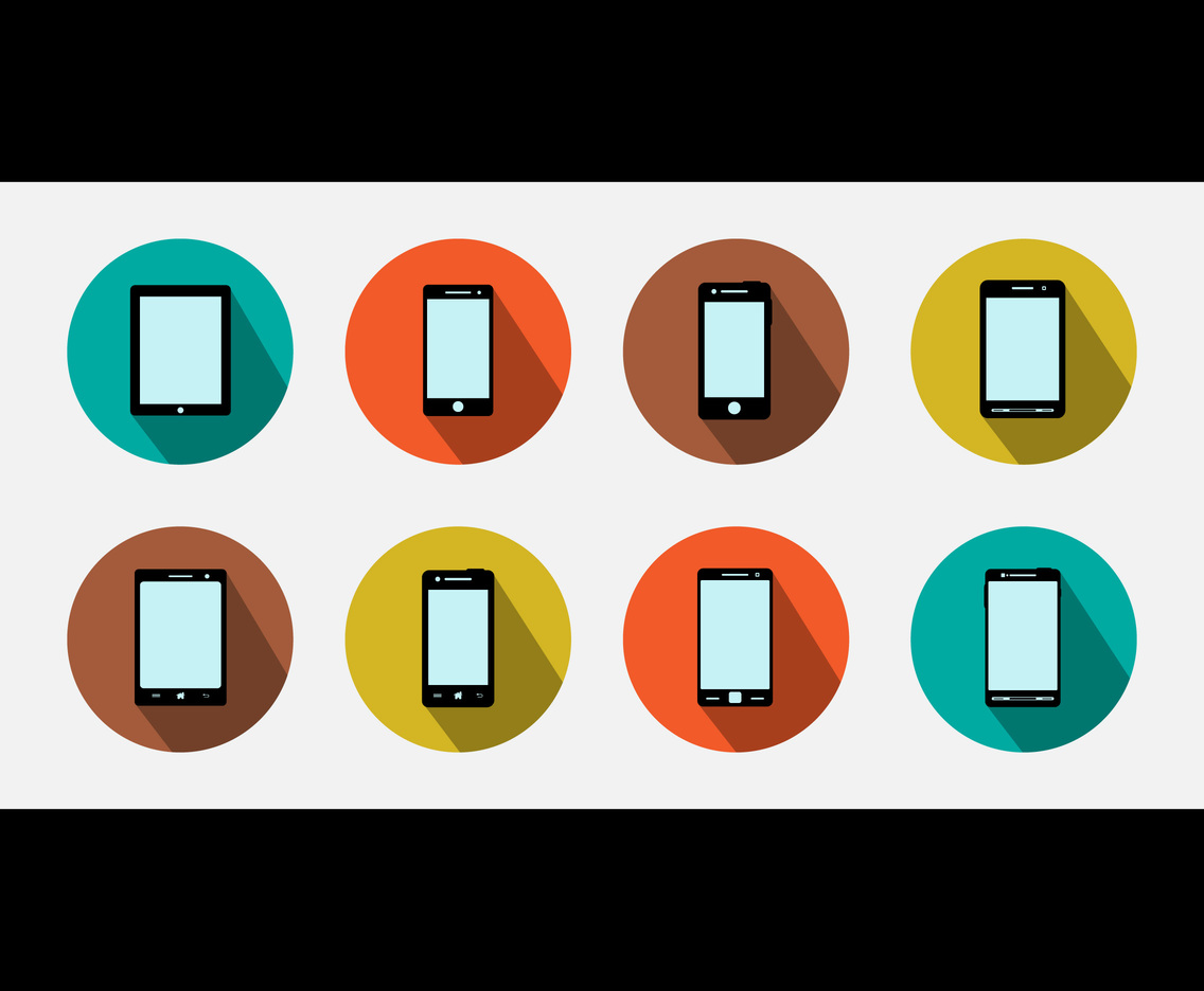 Smart Phone Icon Flat Vector