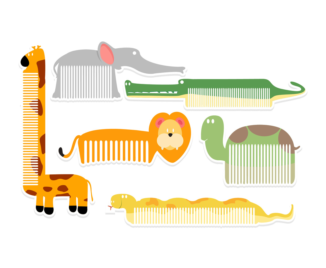 Cute Animal Shapes Comb