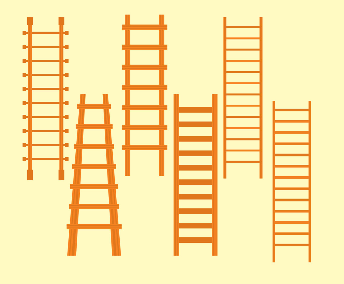 Wooden Ladder Vector Set