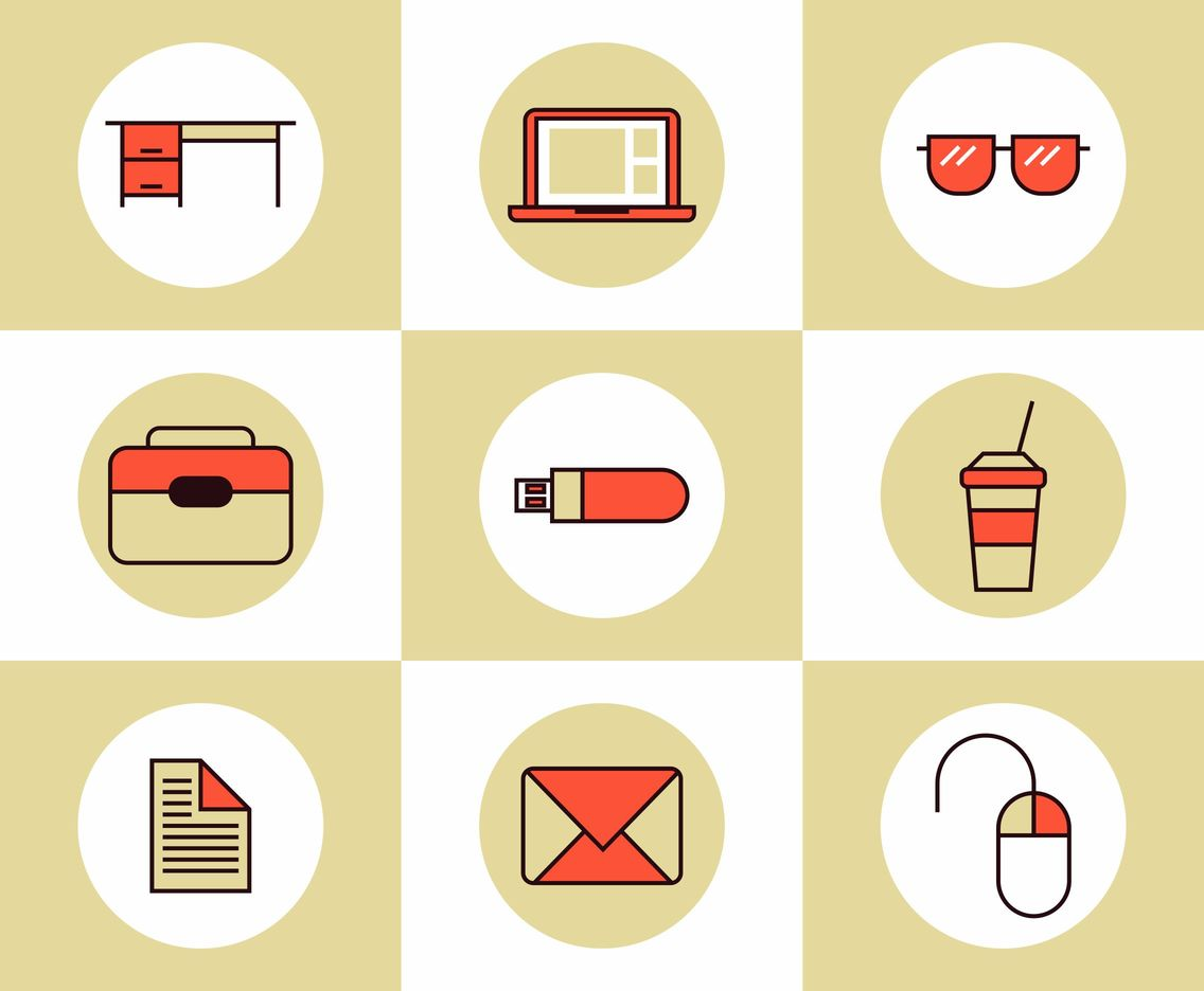 Professor & Education Icons Vector Set
