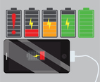Cell Phone Charged Battery Vector