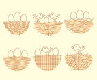 Bird Nest Collection Vector