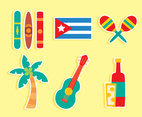 Nice Cuba Culture Element Vector