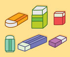 Colorful Eraser Collection Vector