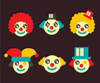 Joker Clown Vector Set