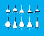 Chandelier lamp modern icon vector silhouette