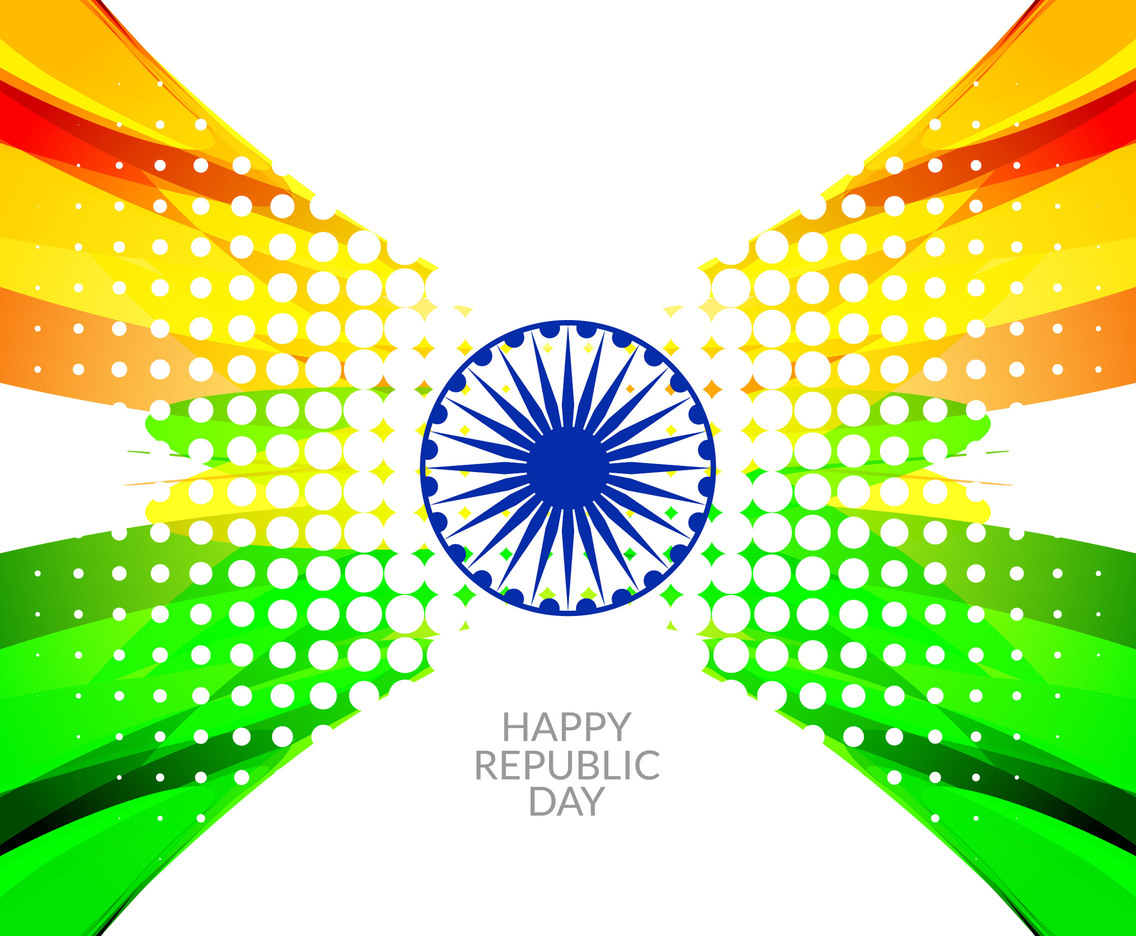 Free Vector Indian Flag Style Background