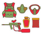 Paintball Vector Set
