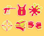 Nice Paintball Element Vector Set