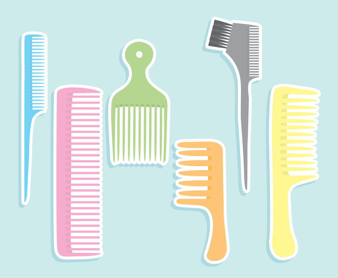 Colorful Nice Comb Vector Set