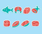 Salmon Fish And Meal Vector