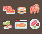 Salmon Food Vector