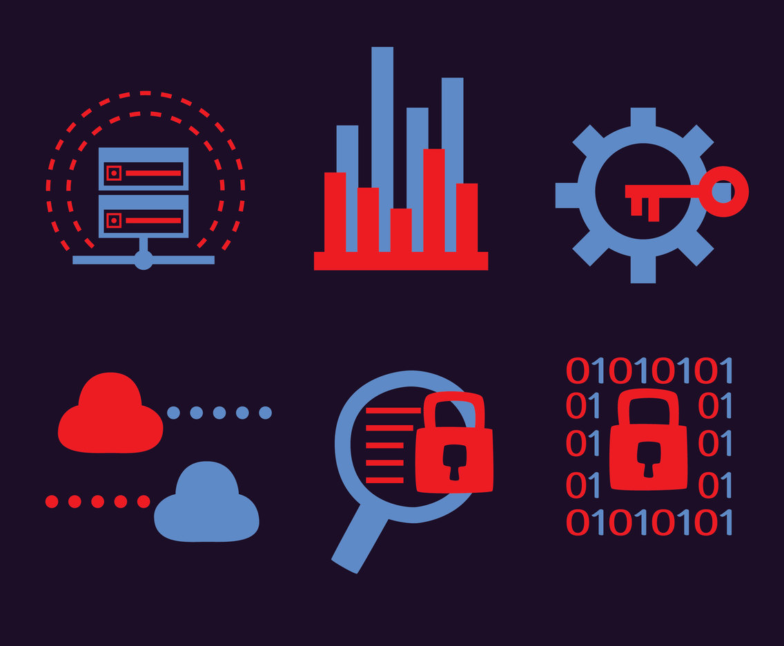 Data Analytics Icons Vector