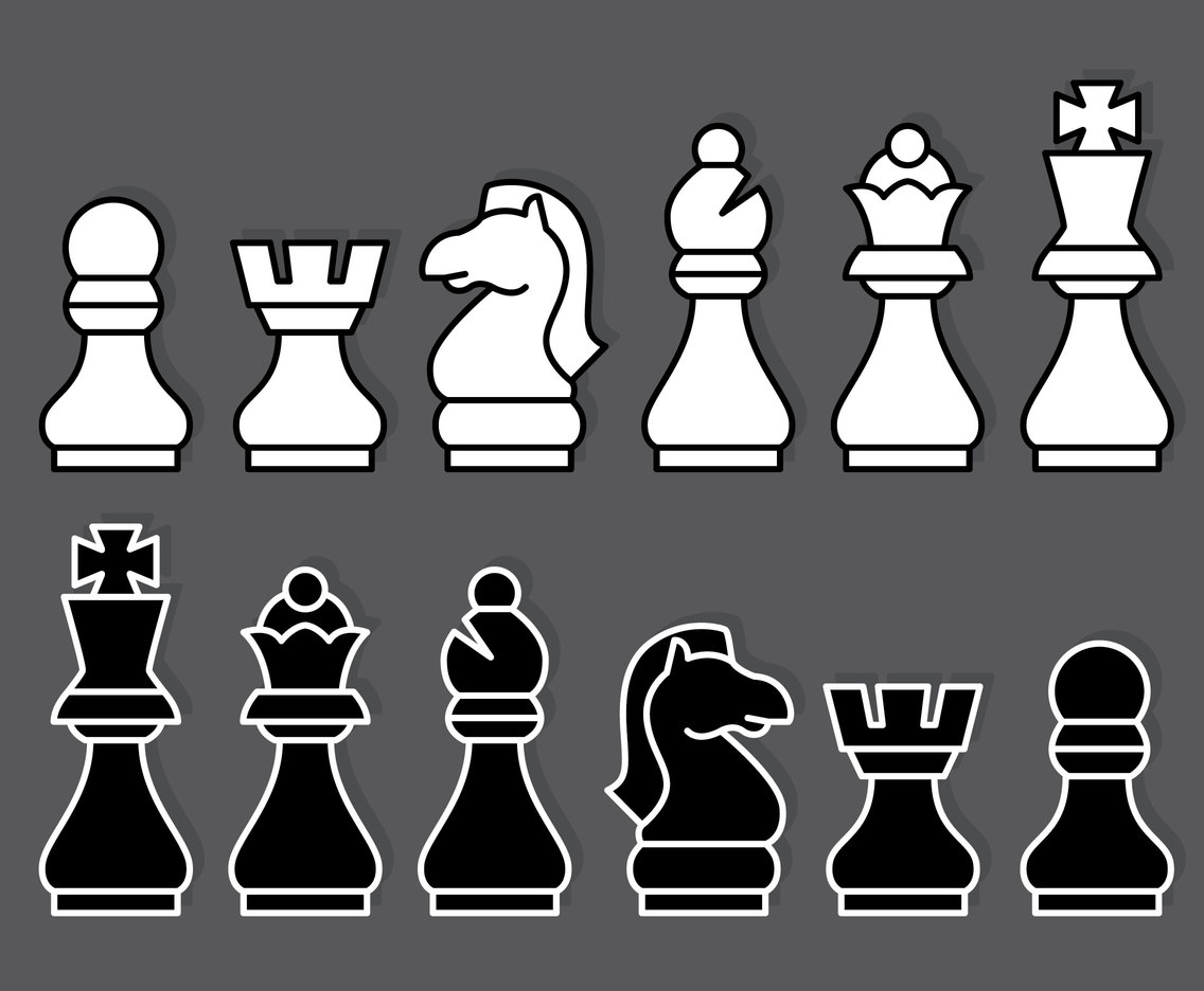 Chess Icons Vector Set
