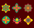 Nice Colors Thai Ornament Vector