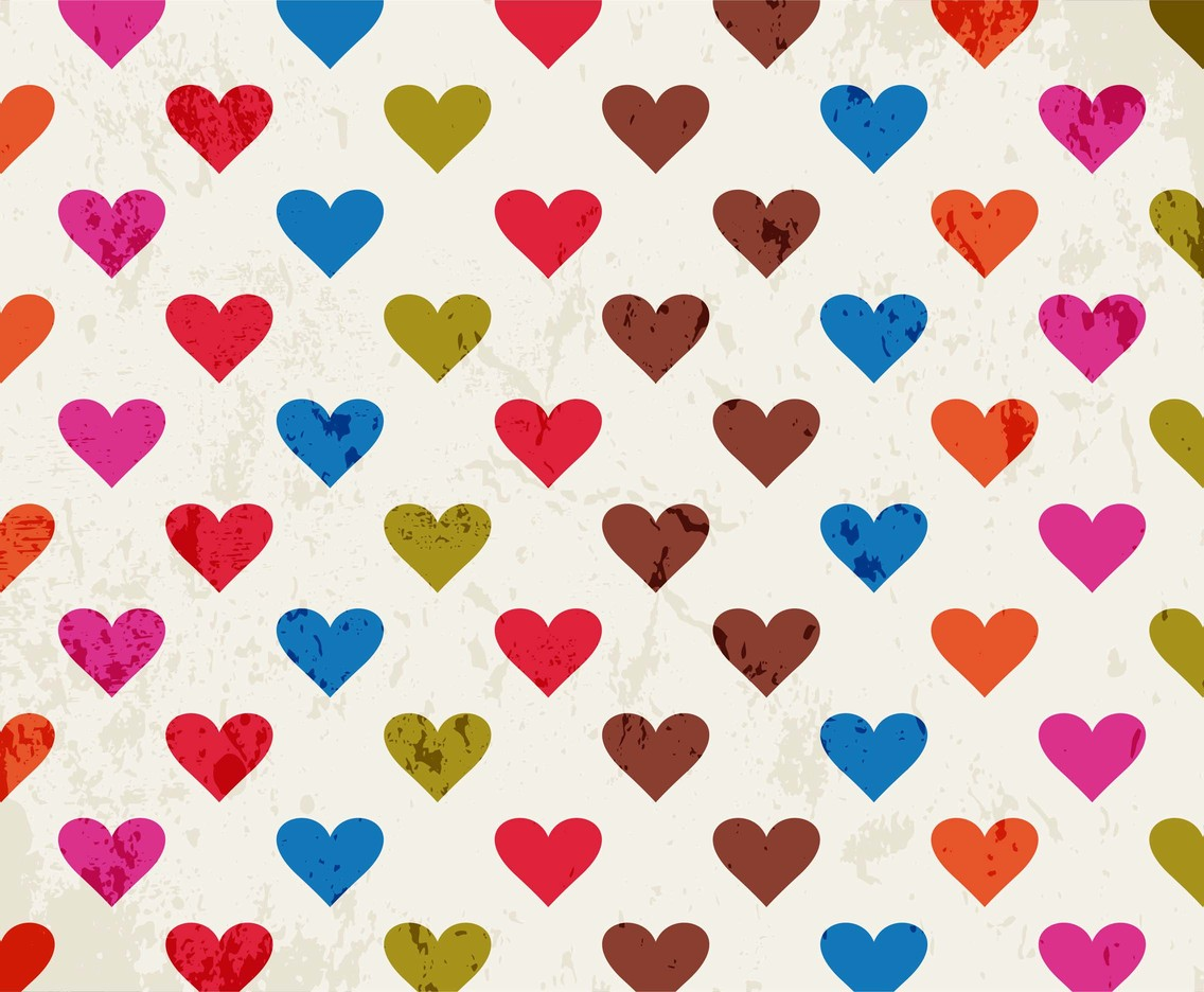 Free Vector Colorful Hearts Background