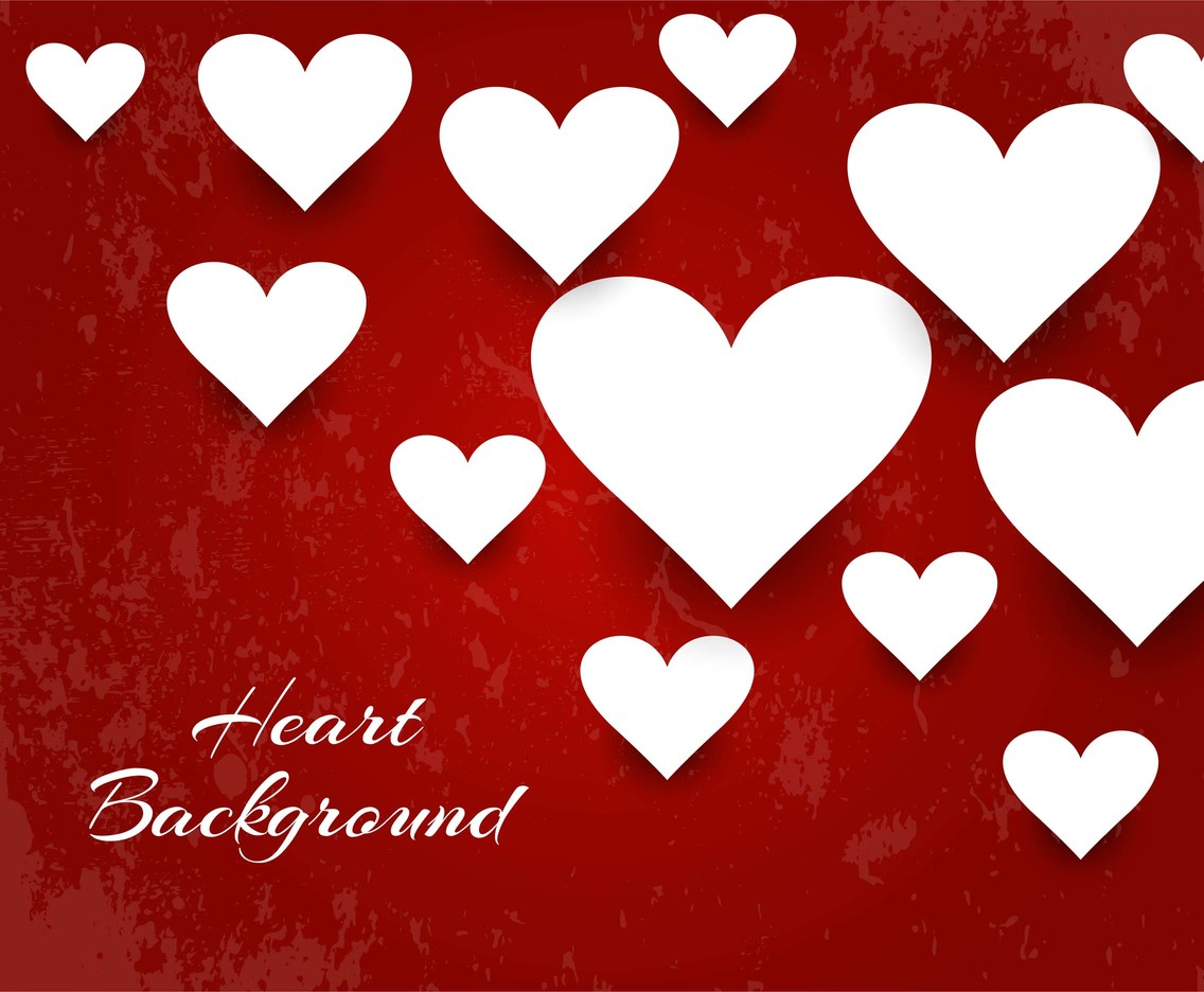 Free Vector Red Color Hearts Background